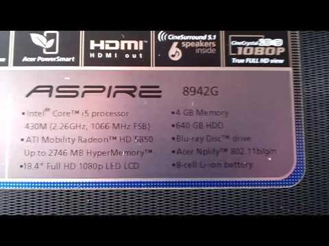 ACER ASPIRE 8942G WINDOWS DRIVER