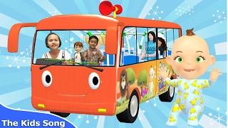 เพลงรถบัส | The wheels on the bus | รวมเพลงเด็กฟังกันยาวๆ 1 ชม.