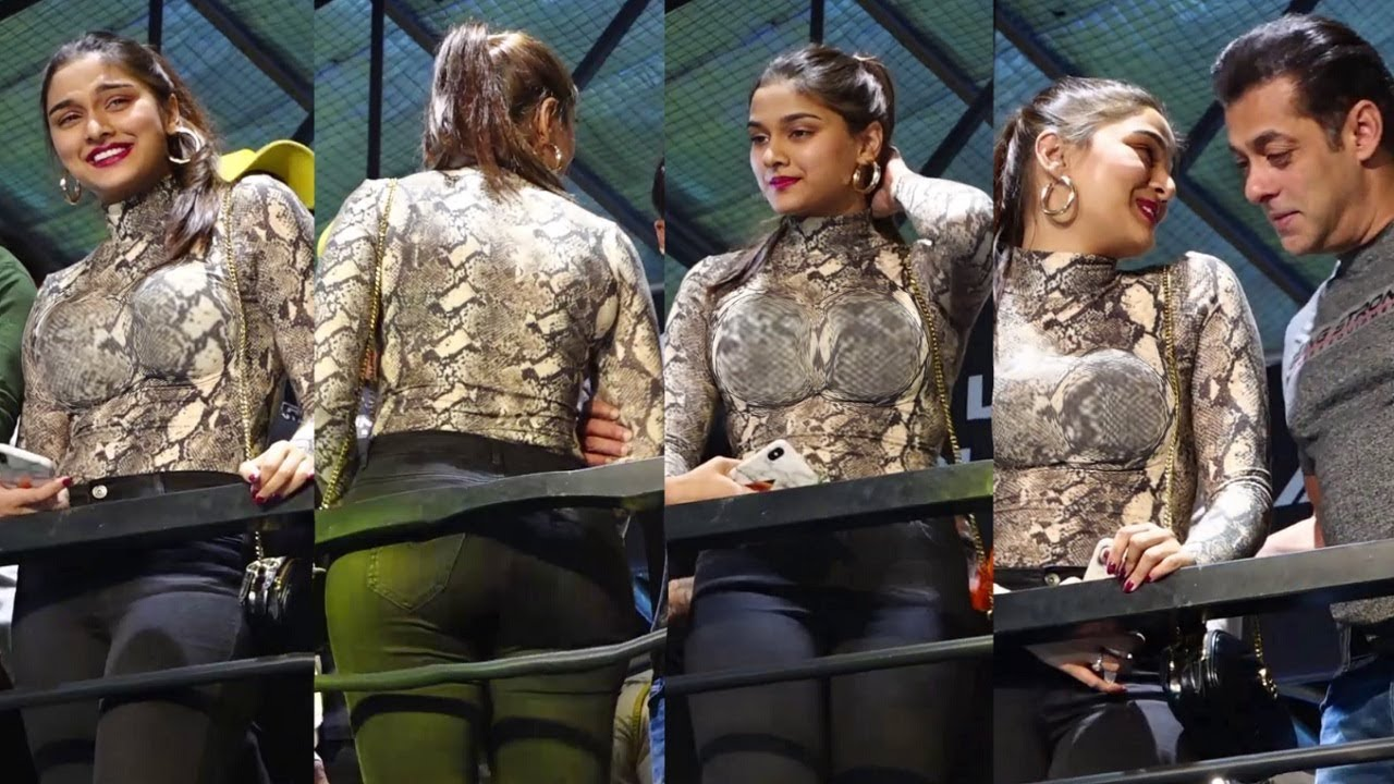 Saiee Manjrekar H0T Looks With Salman Khan At Dabangg 3 Promotion
