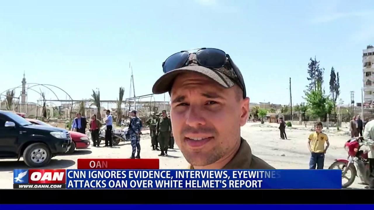 CNN ignores evidence, attacks OAN over White Helmets report