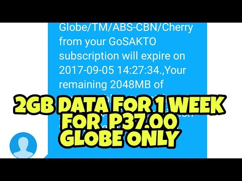 2GB DATA FOR P37 00 ONLY (GLOBE)