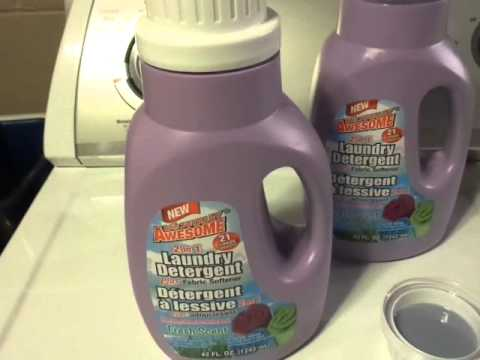 Dollar Tree Review : Totally Awesome Laundry Detergent (Purple Bottle)