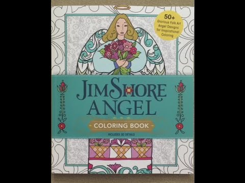 Jim Shore's Angel Coloring Book: 50+ Folk Art Angel Designs for Inspirational Coloring flip through