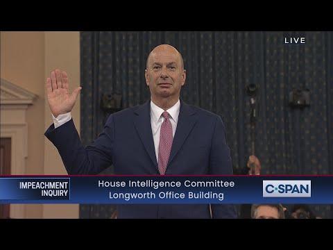 LIVE: House Impeachment Inquiry Hearing - . Ambassador Gordon Sondland Testimony