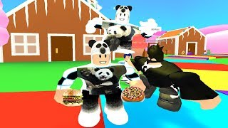 HUNGRY MEN SHISKO AND CHASED THE PANDA - ROBLOX EAT or DIE