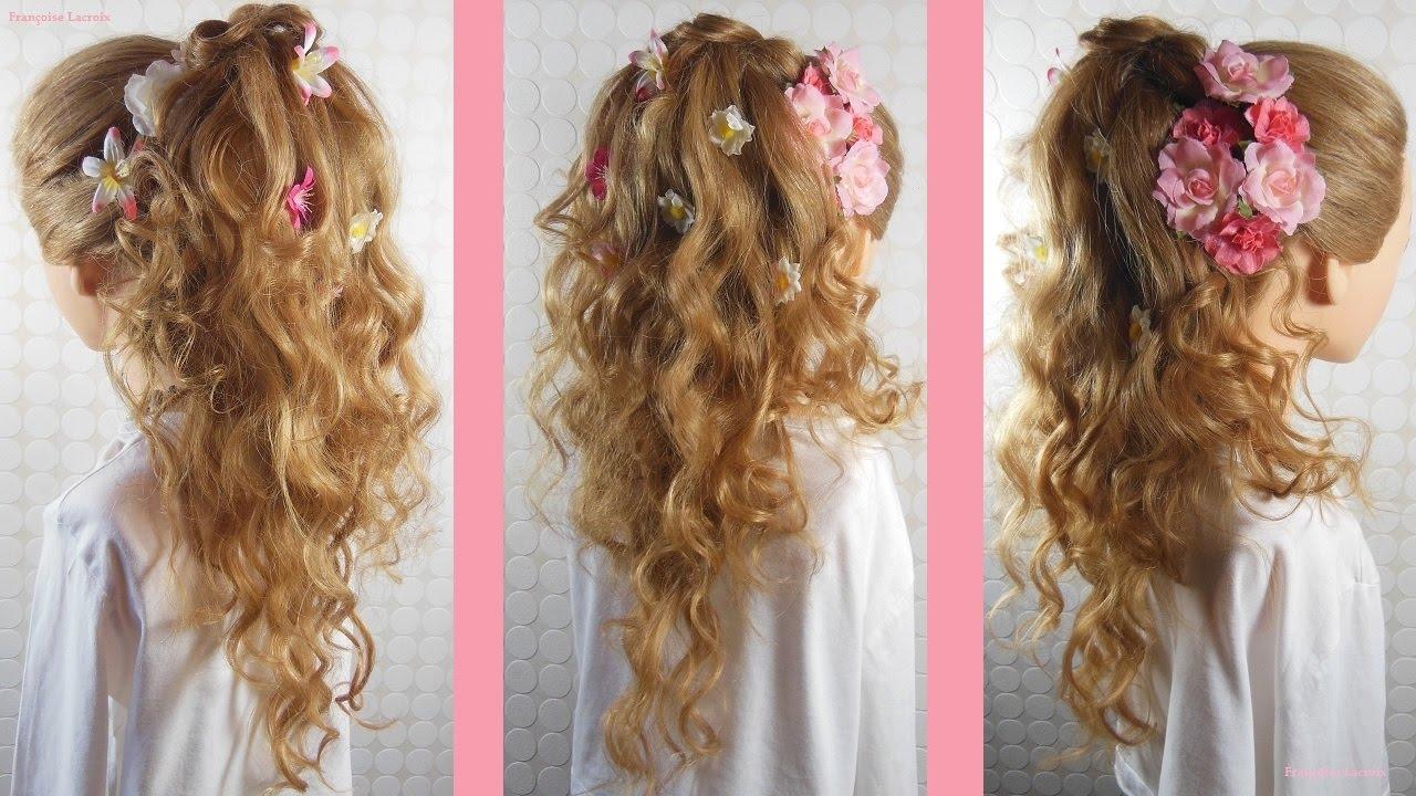 Coiffure bouclée Mariage Cascade boucles | Wedding curly ...