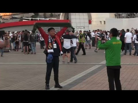 Champions League: fans arrive for Madrid-Liverpool final