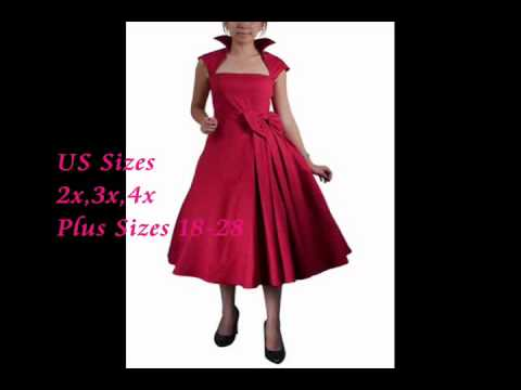 Cheap Plus Size Pin Up & Mad Men Style Vintage Dresses & Wiggle ...