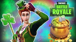 Fortnite New St. Patrick's Day Items + Going Green LTM Countdown + Gameplay!