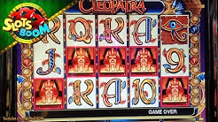Cleopatra LIVE BONUSES !!! 5 Scatters !!! IGT♠ Video Slot in San Manuel Casino