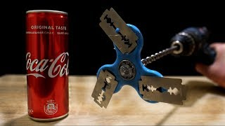 EXPERIMENT: SPINNER ON DRILL vs COCA COLA