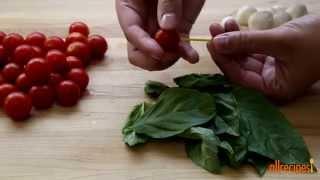 Salad Recipes   How To Make Caprese On A Stick
