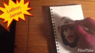 Drawing LeBron James Cartoon