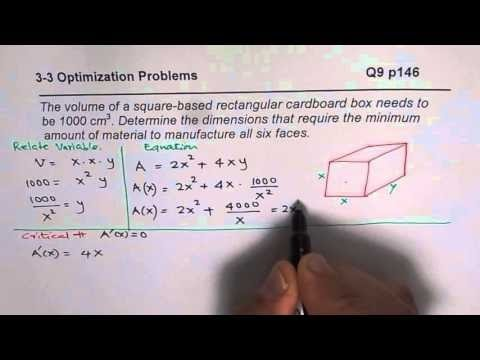 Calculus minimizing surface area of a prism youtube calculus minimizing surface area of a prism ccuart Choice Image