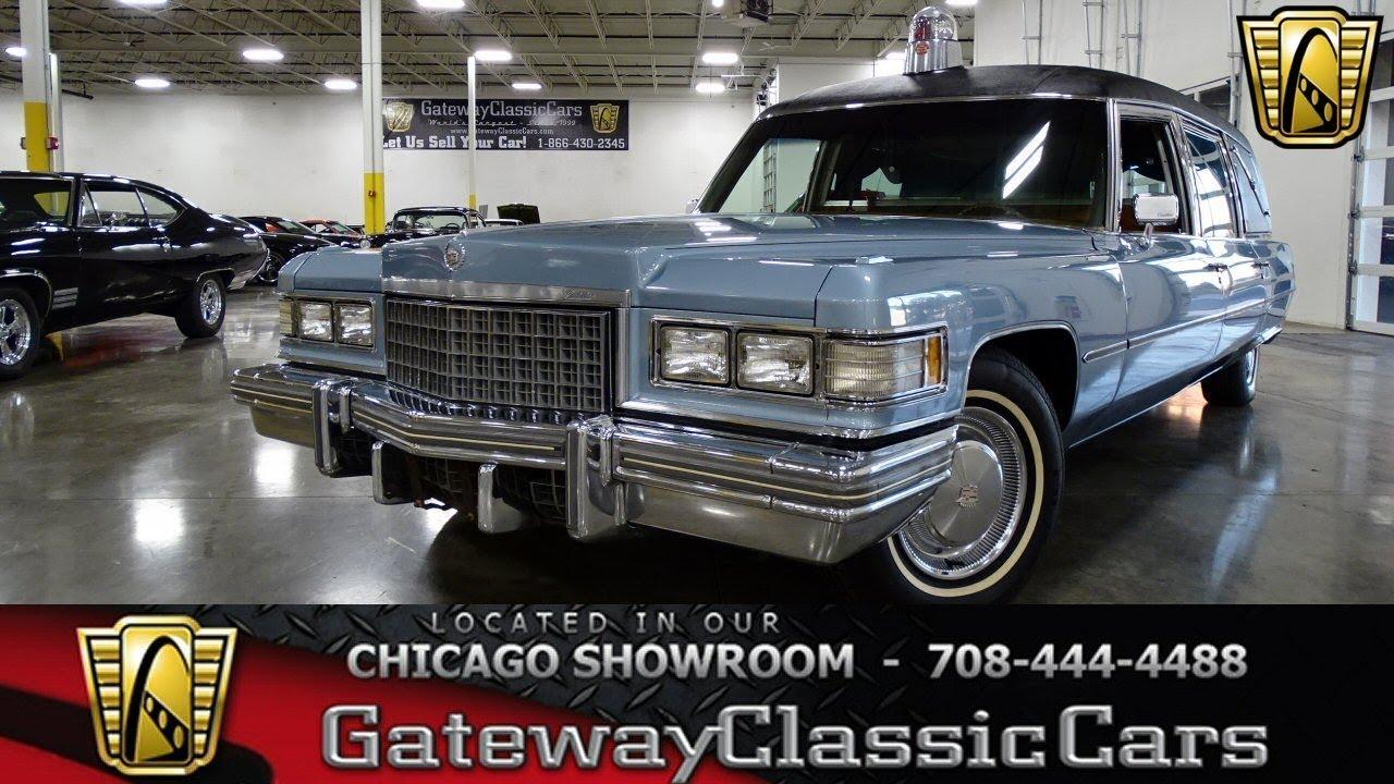 1976 Cadillac Fleetwood Hearse Stock #1544 - YouTube