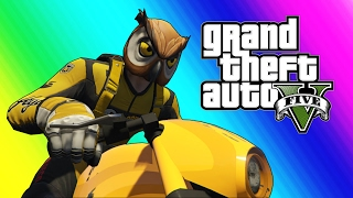 GTA 5 Online Funny Moments   Owl And Raccoon House Tour Funny Glitches
