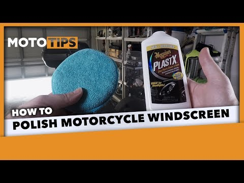 Polish a Motorcycle Windscreen Using Meguiar's Plast-X