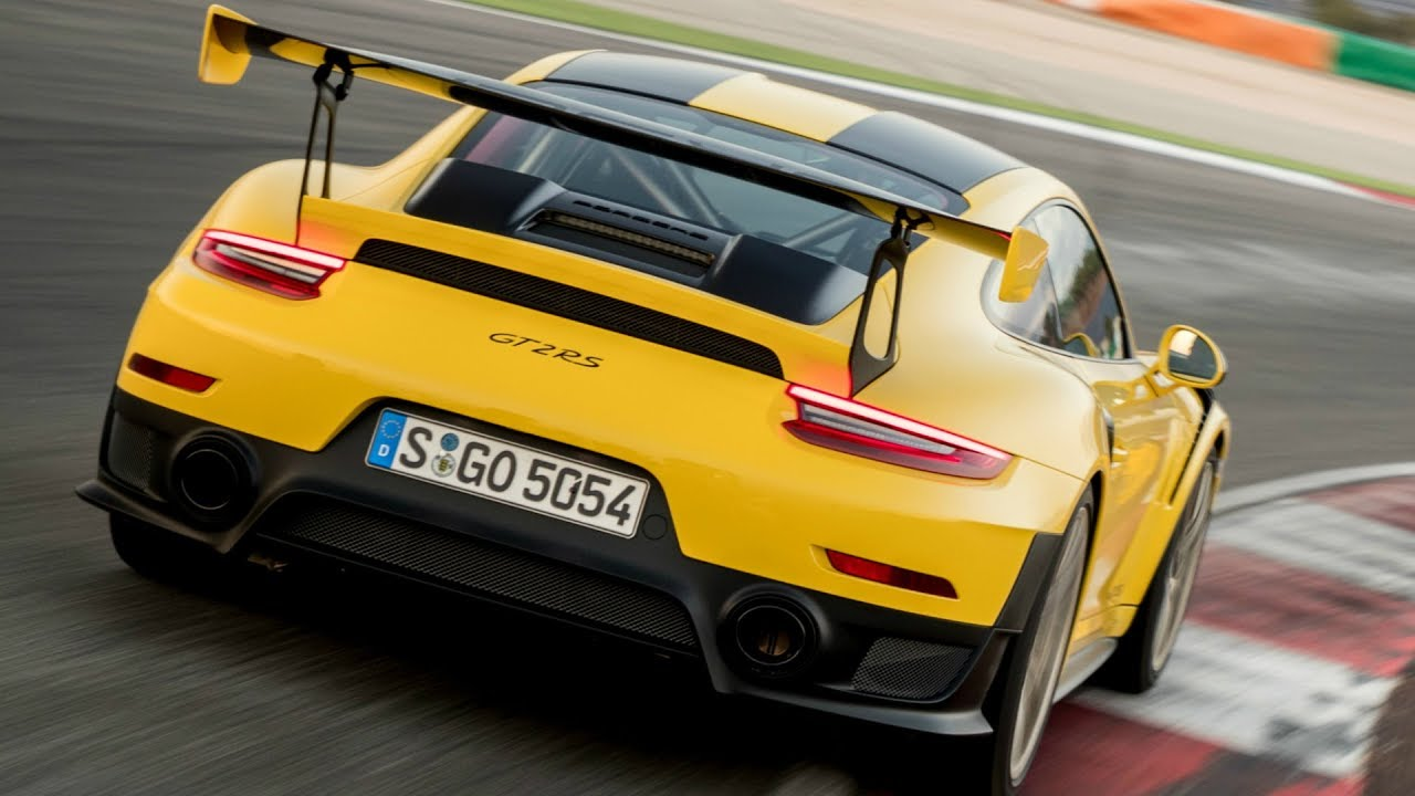 2018 Yellow Porsche 911 Gt2 Rs Exhaust Sound 700 Hp 750 Nm Youtube
