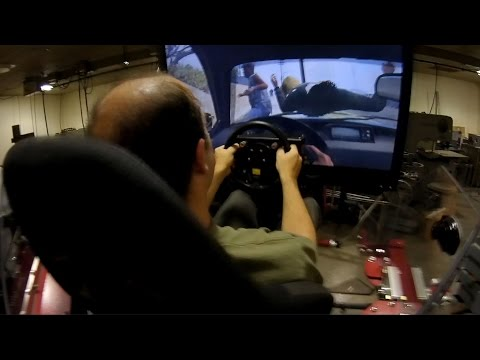 Playing GTA V on a $100k simulator