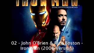 02   John O'Brien  Rick Boston   Iron Man 2008 Version Iron Man Original Soundtrack