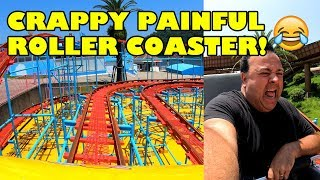 Crappy Painful Roller Coaster in Japan! Hamanako Pal Pal Wild Mouse Onride POV 4K