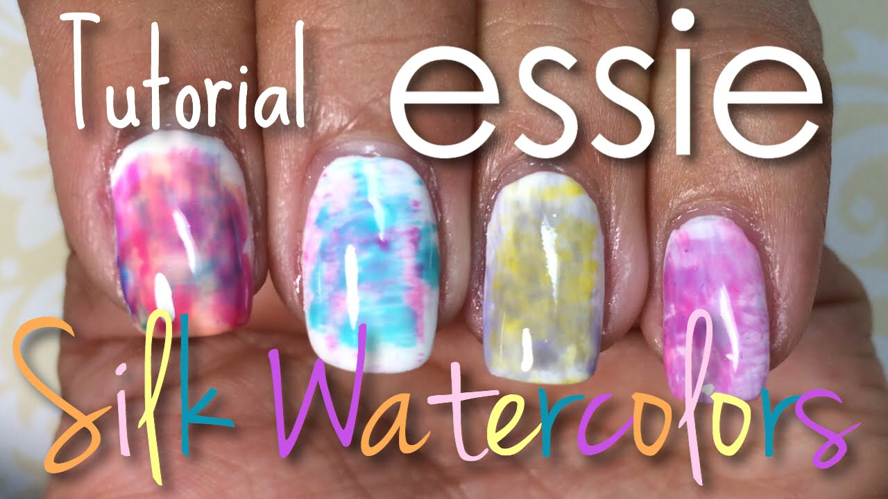 Essie Silk Watercolors Collection Tutorial | Nail Polish Pursuit ...