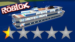MAKING THE WORST RATED CRUISE in Cruise Ship Tycoon! // Roblox