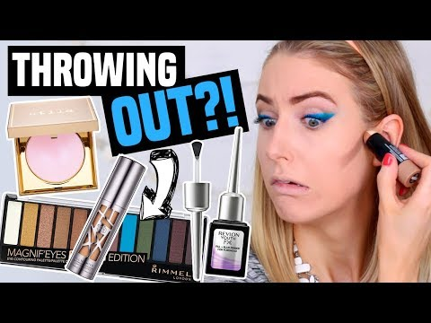 FULL FACE OF MAKEUP I'M THROWING OUT?!    Giving Products ONE LAST CHANCE
