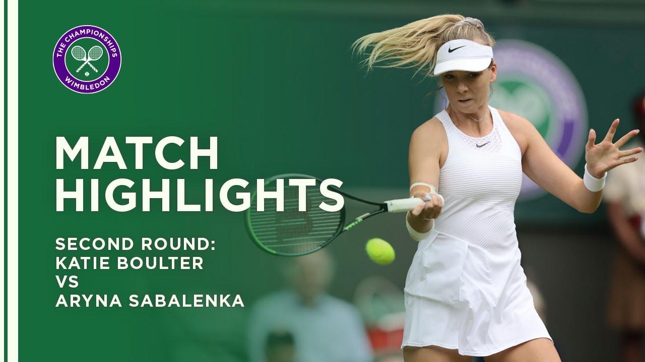 Katie Boulter vs Aryna Sabalenka | Second Round Highlights | Wimbledon 2021