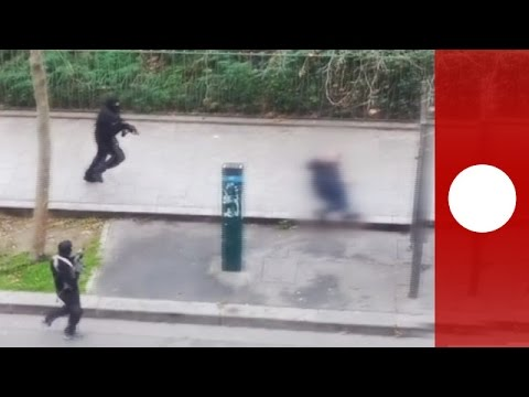 Disturbing Content: Gunmen Fire On Police Officer, Charlie Hebdo Paris