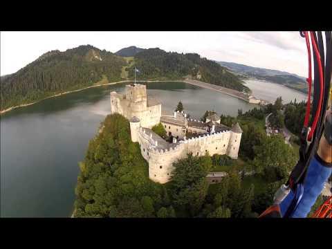 Zalew Czorsztyński z lotu ptaka . Piękne miejsca i wodoki