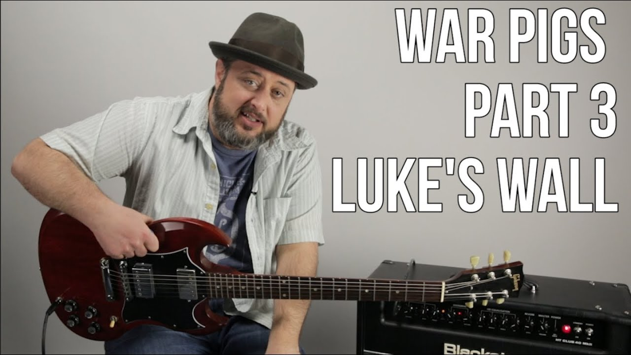 how to play war pigs on guitar