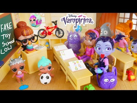 Don't Wake Vampirina Game New Kid Class Clown Fake Toy School Disney Surprise Dolls Bedtime Routine!