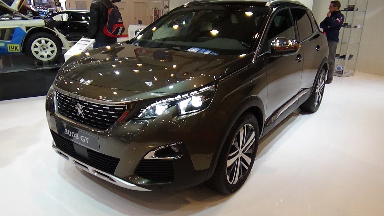2017 peugeot 3008 gt bluehdi 180 exterior and interior essen motor show 2016 youtube. Black Bedroom Furniture Sets. Home Design Ideas