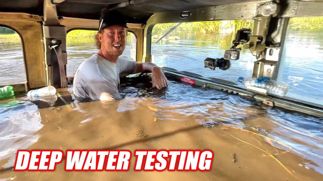 Testing Our HUMVEE To NEW Depths!!! Is It Ready To Drive Completely Underwater???