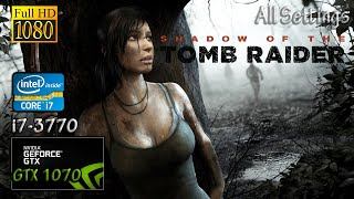 Shadow of the Tomb Raider GTX 1070 & İ7 3770 (Graphics Comparison Test)