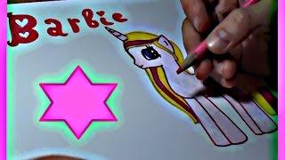 Я рисую пони. Как нарисовать пони Барби. How to draw a pony Barbie(Привет всем ! Я люблю рисовать. Посмотрите как рисовать пони Барби. Все рисуют пони по разному. Я рисую пони..., 2015-01-08T18:31:59.000Z)