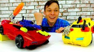 Фёдор на Испытаниях #Автоботы 🏁 Гонки и Прокачка оружия 🔫! Роботы #Трансформеры Игры для мальчиков