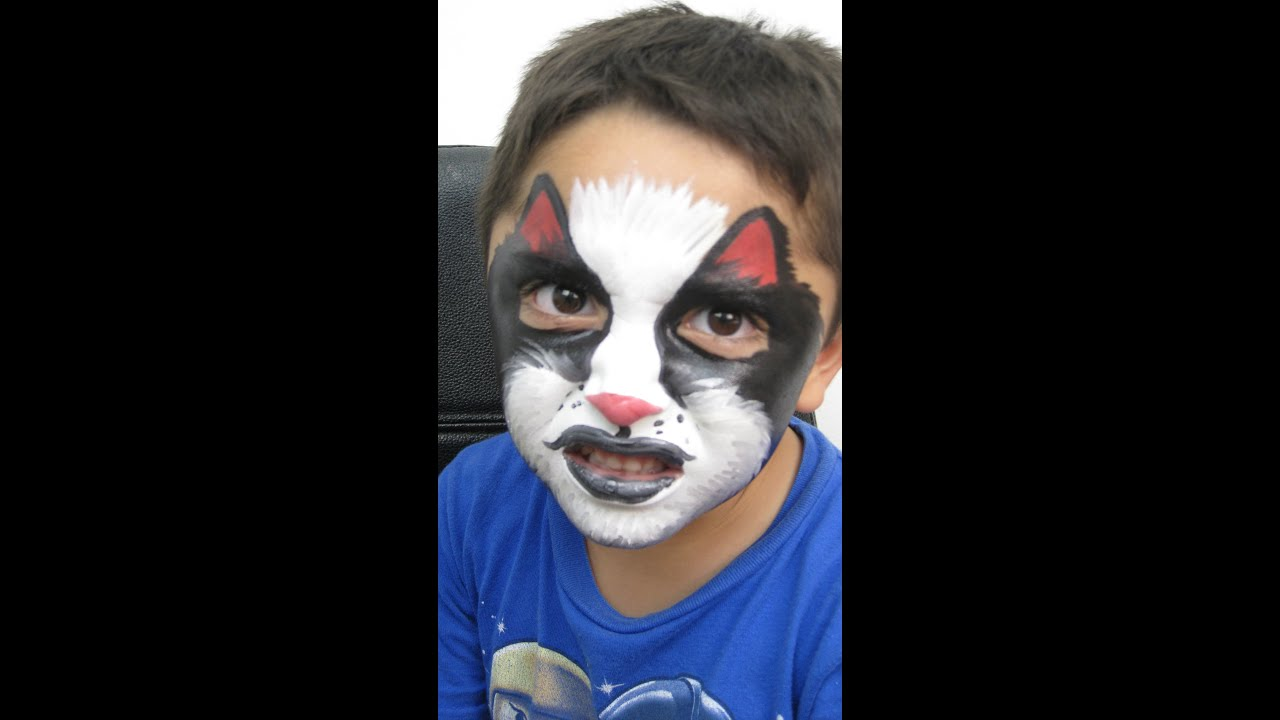 Maquillaje de halloween para ni o lobo youtube for Calavera lobo