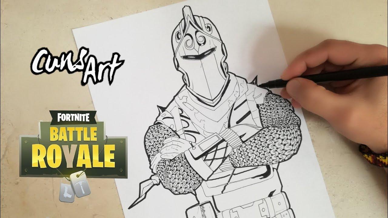 COMO DIBUJAR AL CABALLERO OSCURO | FORTNITE | how to draw ...