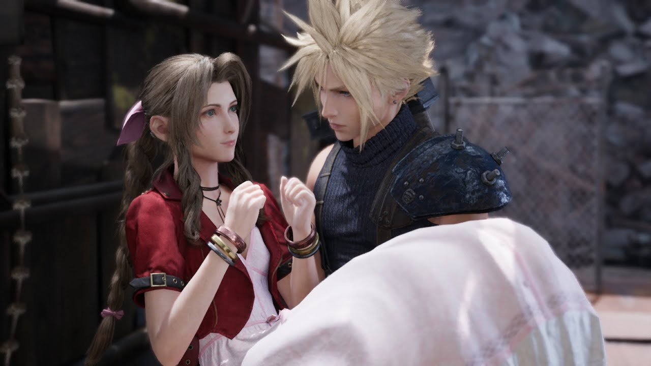 "Cloud Catches Aerith | ""My Hero"" 