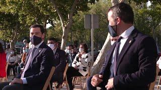 Moreno inaugura la estatua homenaje a los sanitarios en Jaén