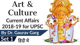 Art & Culture Current Affairs 2018-19 Set 1 for UPSC CSE Prelims 2019 & History Optional हिंदी में
