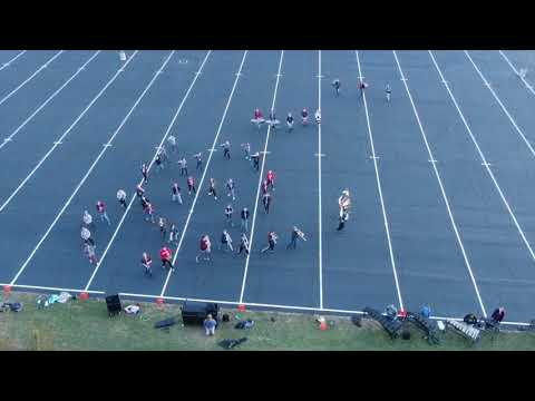 Rossford High School Marching Band Rehearsal Drone Footage 20181024