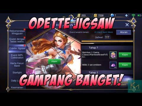 Cara Menyelesaikan Odette Jigsaw   Mobile Legends Event