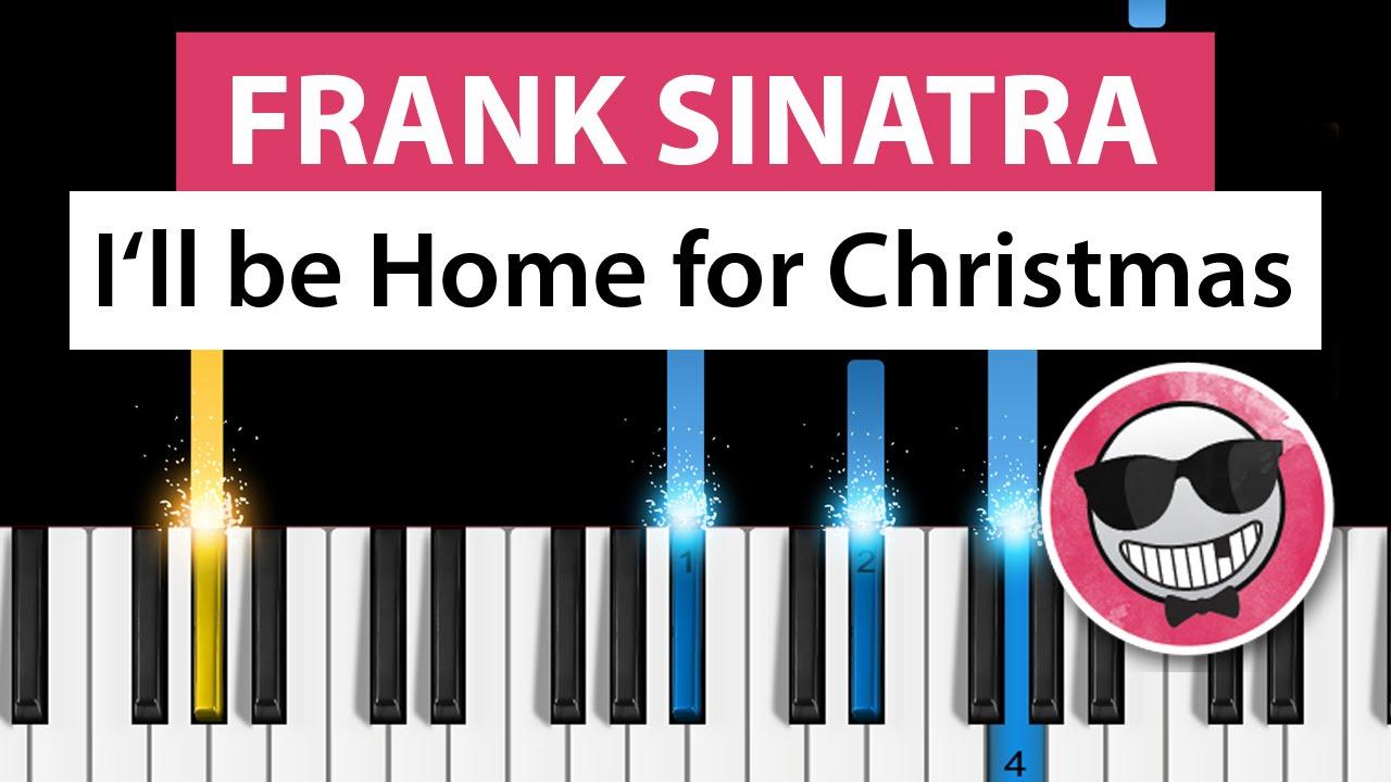 Frank Sinatra - I'll Be Home For Christmas - Piano Tutorial Easy ...