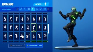 Skin Omega making +95 Gests/BAILES at Fortnite Battle Royale - Omega Dancing