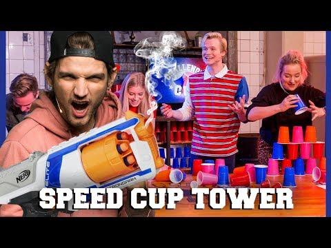 KAJ SABOTEERT DE SPEED CUP TOWER CHALLENGE | Dylan, Kelvin, Jill, Marije | Challenges Cup #4