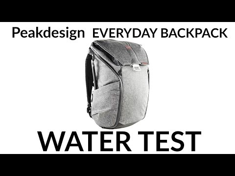 Peakdesign everyday backpack. Extreme Weatherproof testing ! How much rain can it take ?