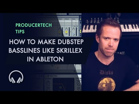 How to make heavy dubstep basslines like Skrillex with only Ableton Live's instruments and effects